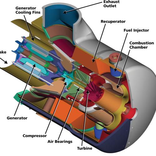 Cutaway-turbine